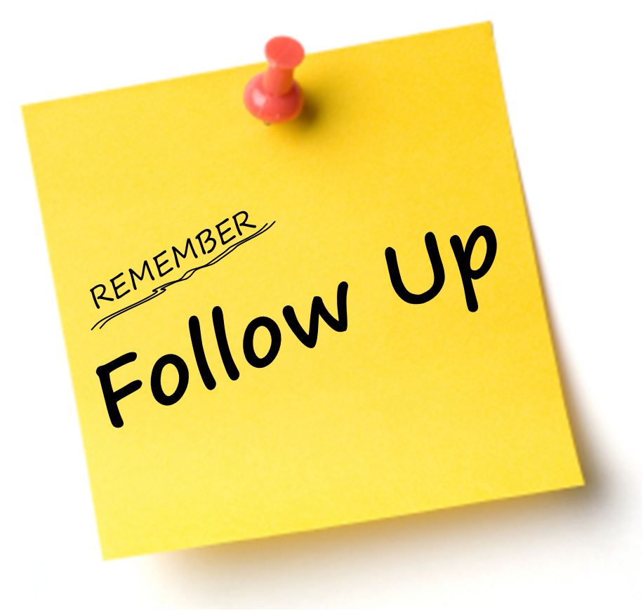 The Lost Art of the Follow-Up | SharnEnterprises,Inc. Follow-Up