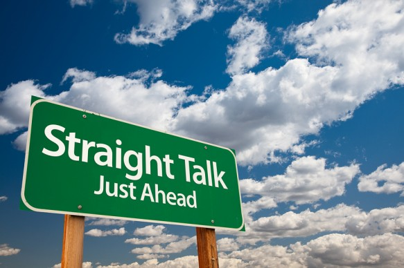 bigstock-Straight-Talk-Green-Road-Sign-7789225-583x388