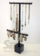 adjustable hanging jewelry steel counter display