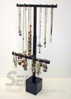 adjustable hanging jewelry steel counter display