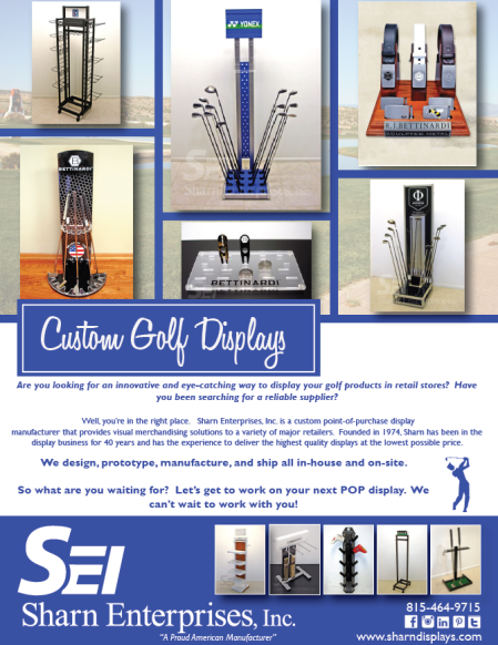 Custom golf display ad