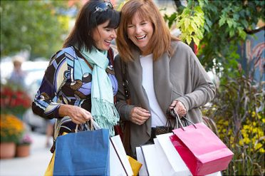 Laughing Women on Shopping Trip   Original Filename: 84858947.jpg
